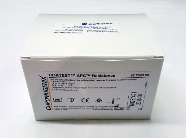 Diapharma/Chromogenix Coatest® APC™ Resistance/K822643/Kit/80-160 tests