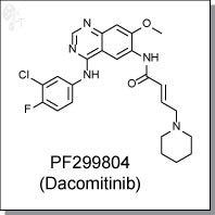 Cellagentech/PF-299804 (Dacomitinib) | HER1/2/3 inhibitor/C7299-5/5 mg (powder)