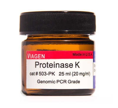 Viagenbiotech/Proteinase K solution 25ml (20mg/ml)/503-PK/1 Ea