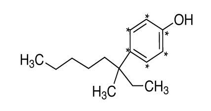 CIL(cambridge isotope laboratory)/4-(1-ETHYL-1-METHYLHEXYL)PHENOL (RING-13C6, 99%)  100 UG/ML IN METHANOL/1.2 ML/CLM-8359-1.2