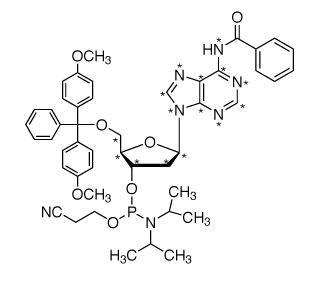 CIL(cambridge isotope laboratory)/2'-DEOXYADENOSINE PHOSPHORAMIDITE (13C10, 98%; 15N5, 98%) 95%CHEMICAL PURITY/25 MG/CNLM-6828-25