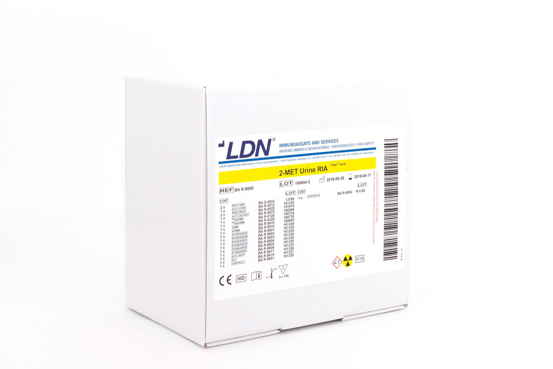 LABOR DIAGNOSTIKA NORD/2-MET Urine RIA Fast Track/BA R-8600/