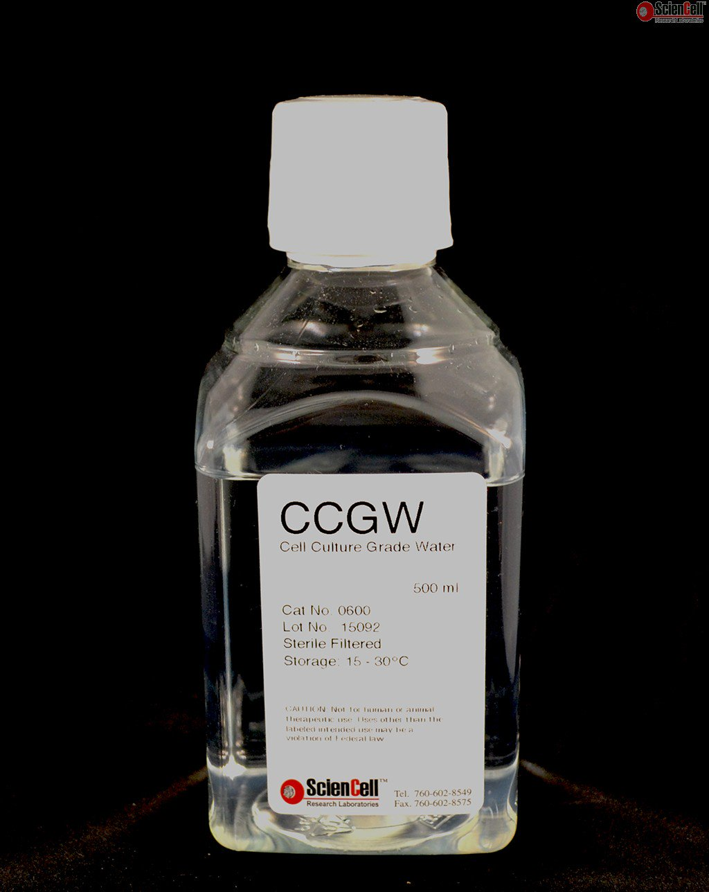 Sciencell/Cell Culture Grade Water, 500 ml/0600/1 Ea